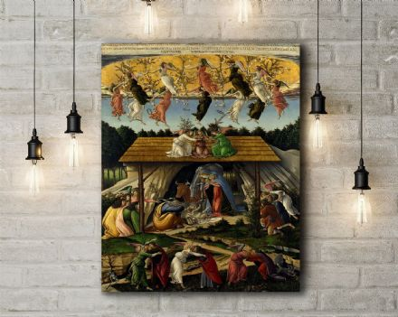 Sandro Botticelli: The Mystical Nativity. Religious Fine Art Canvas.